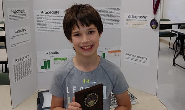 Logan Dennison 2nd Place Finish Regional Science Fair.  Will move on to compete at the Central Regional Science Fair.