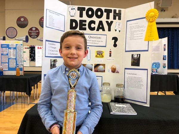 Wrigley Student Science Fair winner