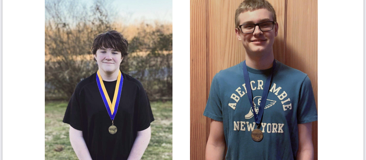 Morgan County Middle School Students Jonah O'Quinn and Hunter Noble win at Region and are headed to the State Governor's Cup