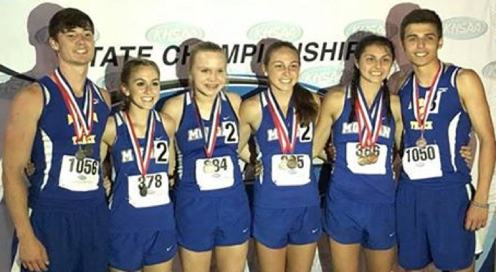 Students who medaled at the State Track & Field Tournament