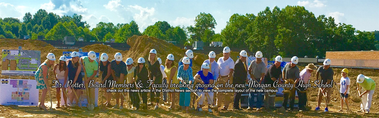 Ground breaking ceremony for the new Morgan County High School