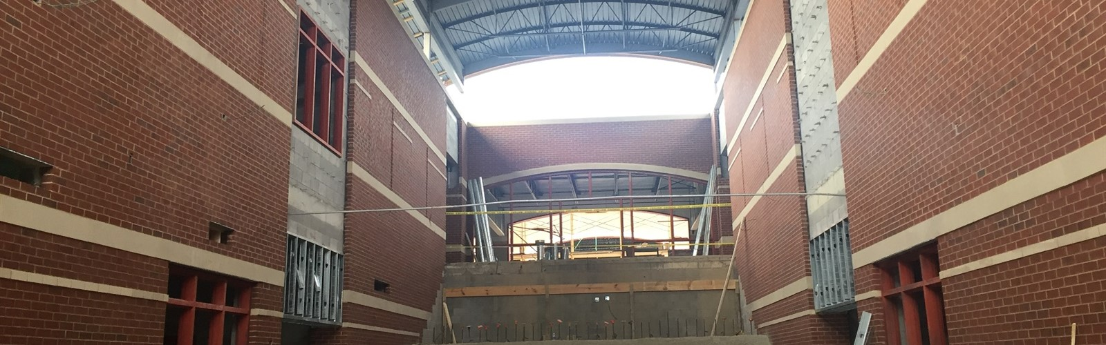 Grand Entryway of New HighSchool.