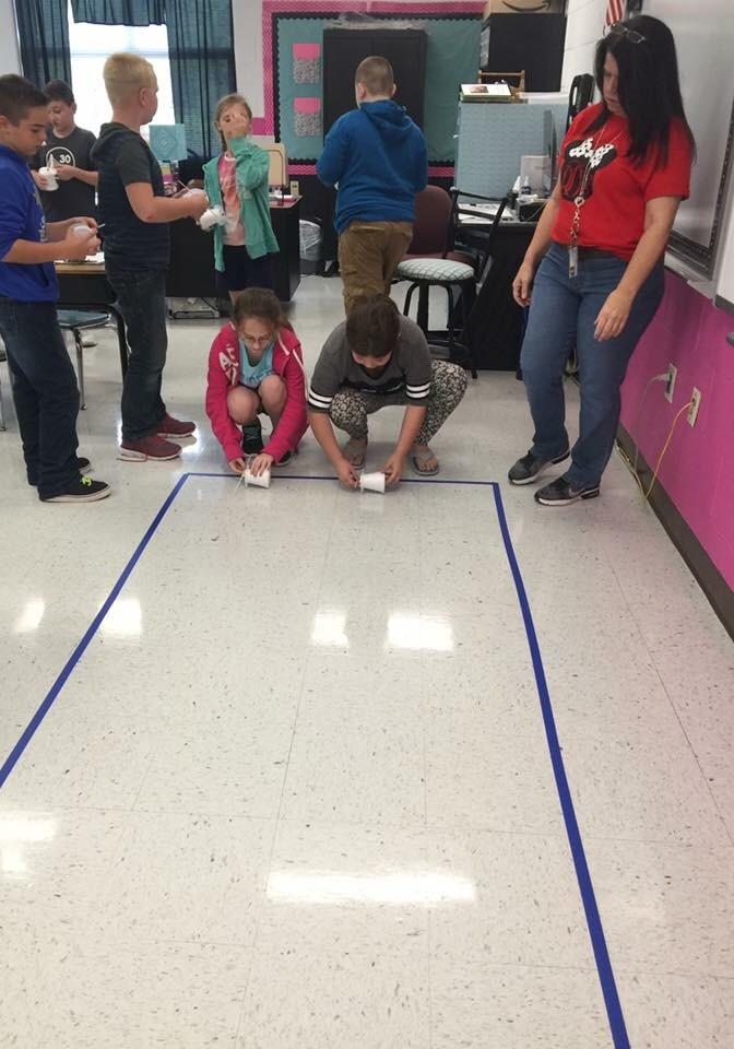 Students in Mrs. Lisa Williams' 4th grade class at East Valley Elementary are kicking off the school year with full implementation of the Next Generation Science Standards. Students have loved learning about the relationship between speed and energy!