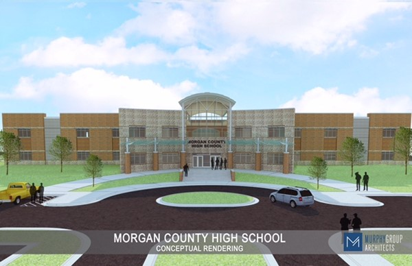 Front View of New High School