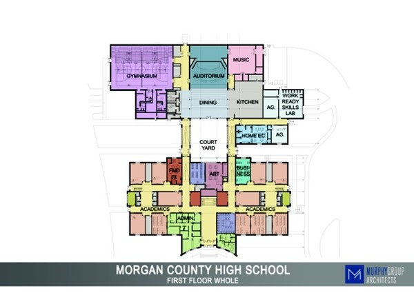 Floor Plan of New High School