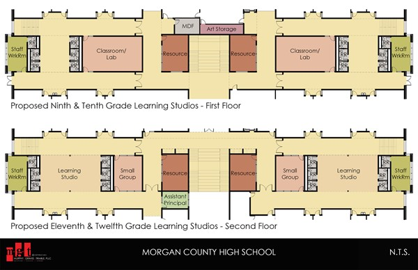 High School Front Section 1st and 2nd Floor